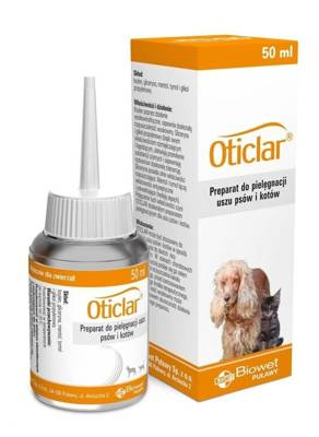 Biowet Oticlar prepearatas šunų ir kačių ausų valymui 50ml