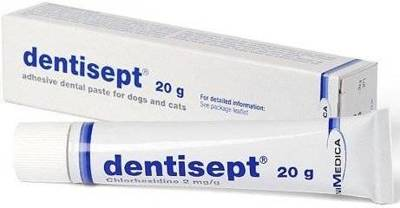 DENTISEPT 20g lipni dantų pasta šunims ir katėms