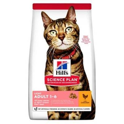 HILL'S SP Science Plan Feline Adult Light Vištiena 10 kg