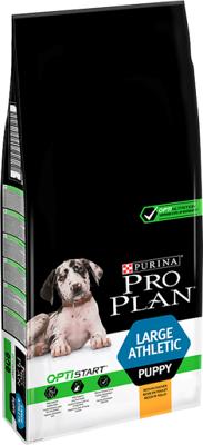 Purina Pro Plan Large Puppy Athletic Optistart, viščiukas ir ryžiai 12kg