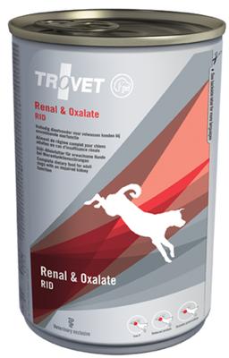 TROVET RID Renal & Oxalate (šuniui) 400g - skardinė
