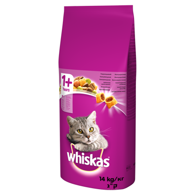WHISKAS Adult 14kg - sausas ėdalas katėms su ėriena