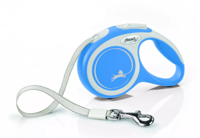 FLEXI New Comfort pavadėlis mėlynas L 8 m iki 50 kg - diržas
