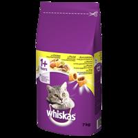 WHISKAS Adult 7kg - sausas kačių ėdalas su vištiena ir daržovėmis